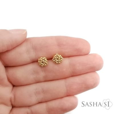 Náušnice MINI SashaSi zlaté