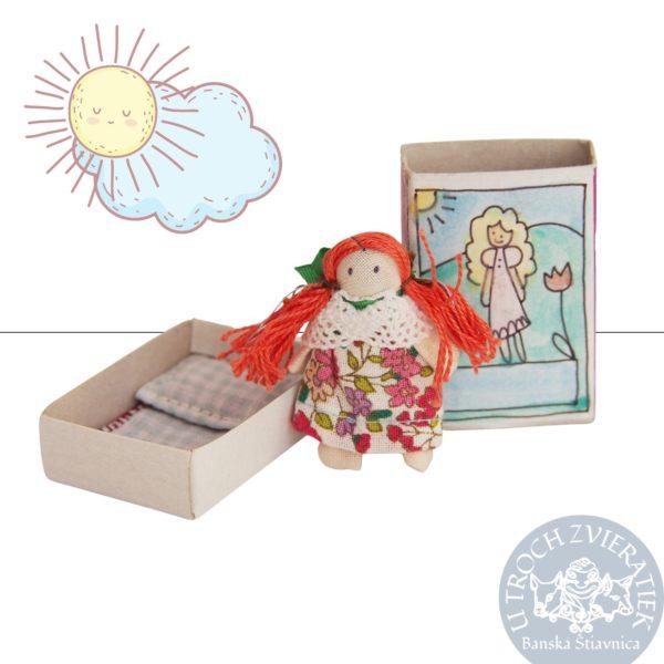 Mini bábika princezná v krabičke