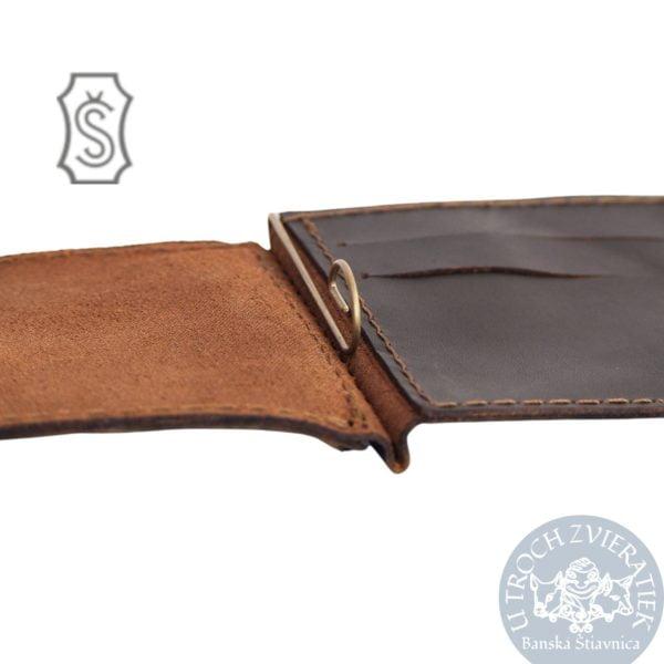 detail Kožená peňaženka dolárovka Šoučík