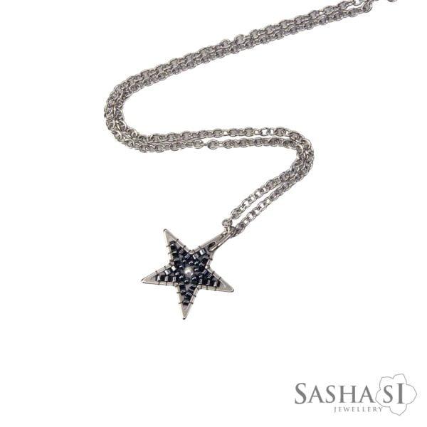 Prívesok Hviezda tmavé striebro SashaSi