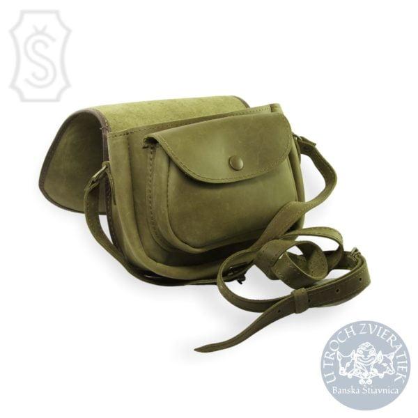 Kožená kabelka kapsa zelená Juraj Šoučík