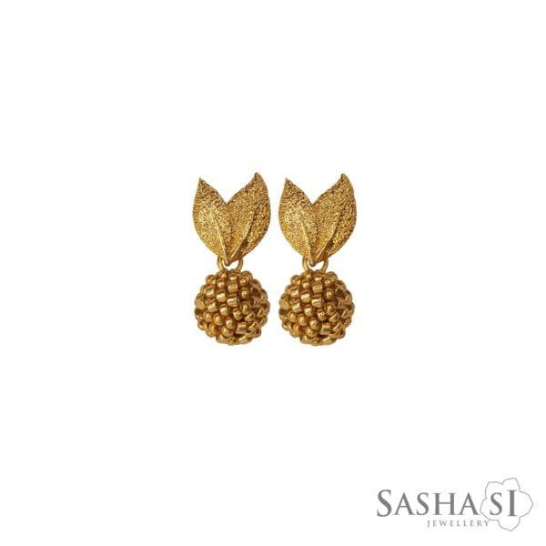 Náušnice Jabĺčka zlaté SashaSi