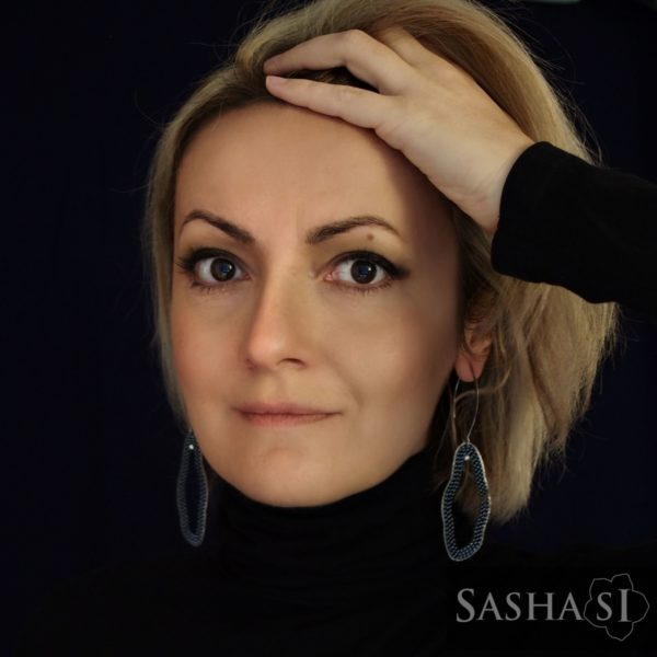 Náušnice ORGANIC STEEL 3 SashaSi