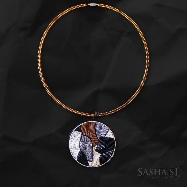 Náhrdelník Abstract Landscape 1 SashaSi