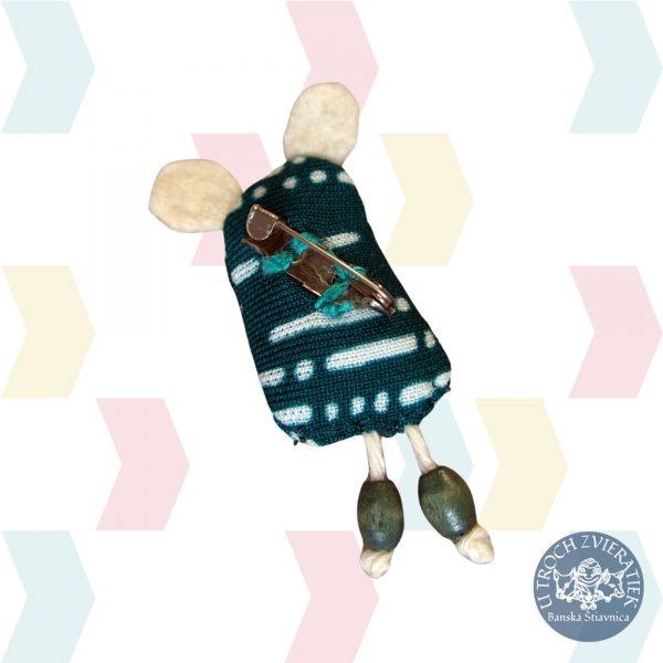 Brošňa Cezmíno KONCITO recyklovaný textil