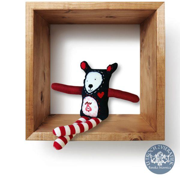 Hruškomil Pásikavý hračka z recyklovaného textilu KONCITO