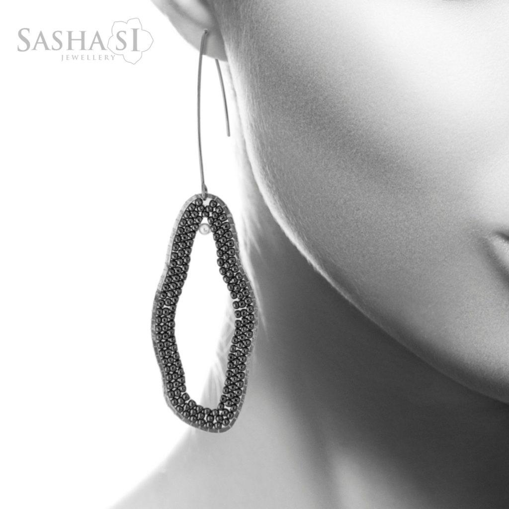 Náušnice Organic Steel SashaSi