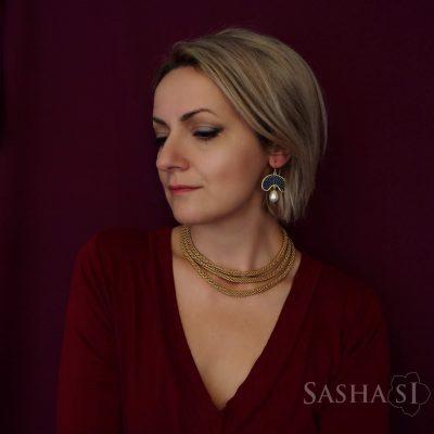 Náhrdelník šnúra GOLD1 kolekcia Gold SashaSi
