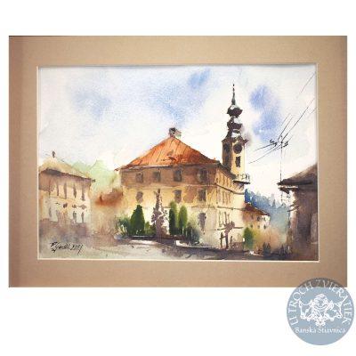 Akvarel Banská Štiavnica, Radničné námestie